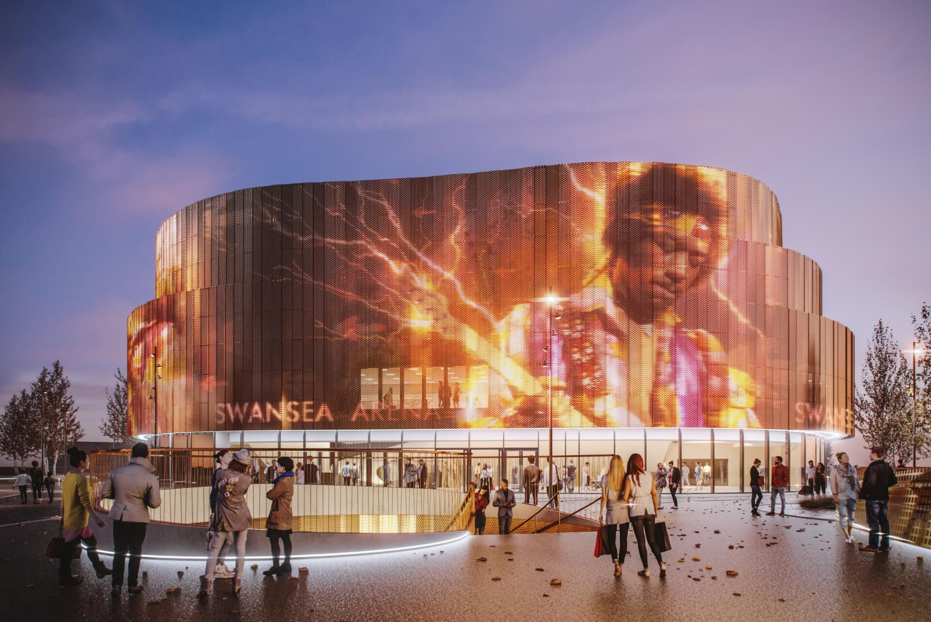 CGI of the Copr Bay Arena