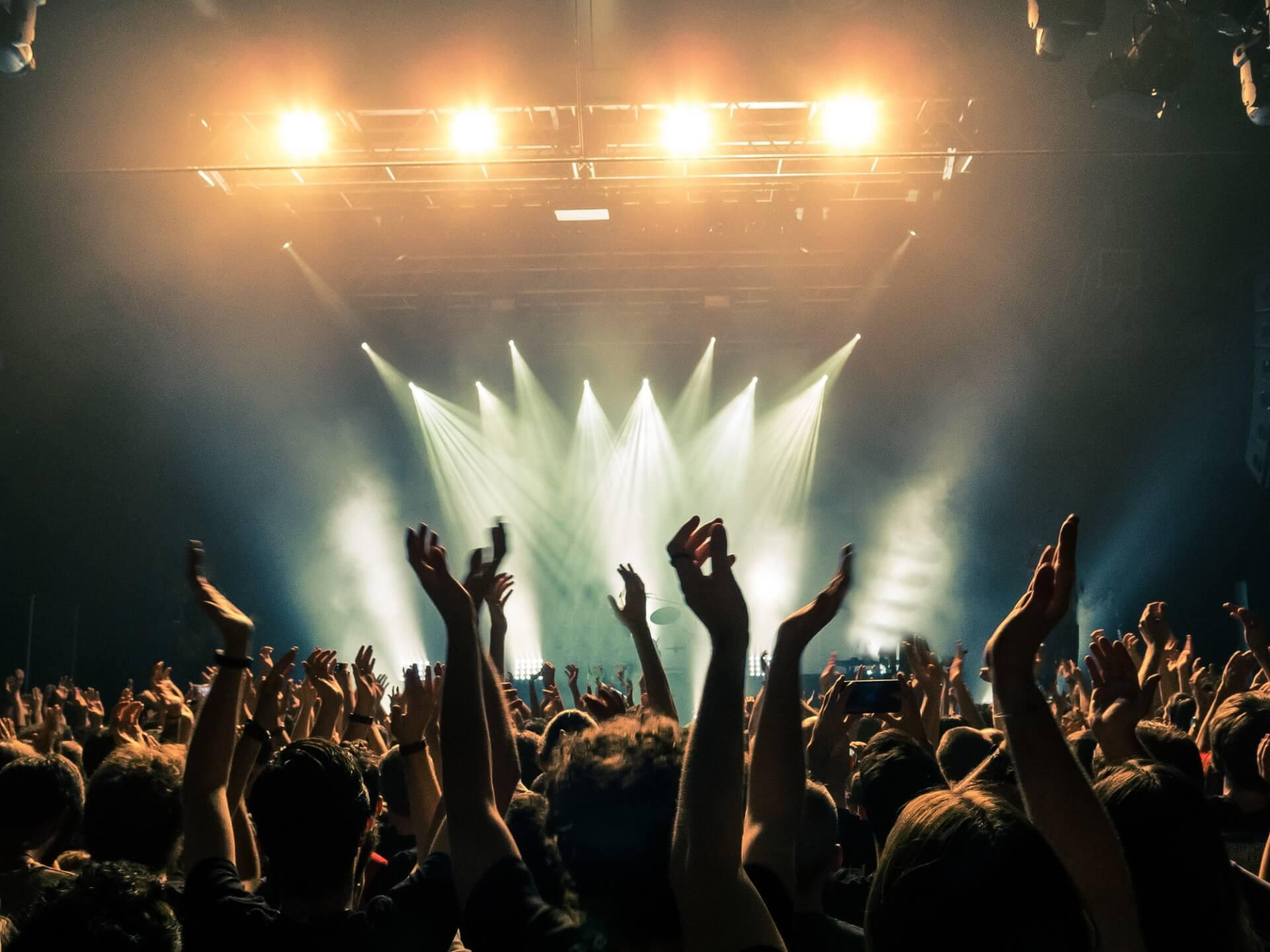 An arena show