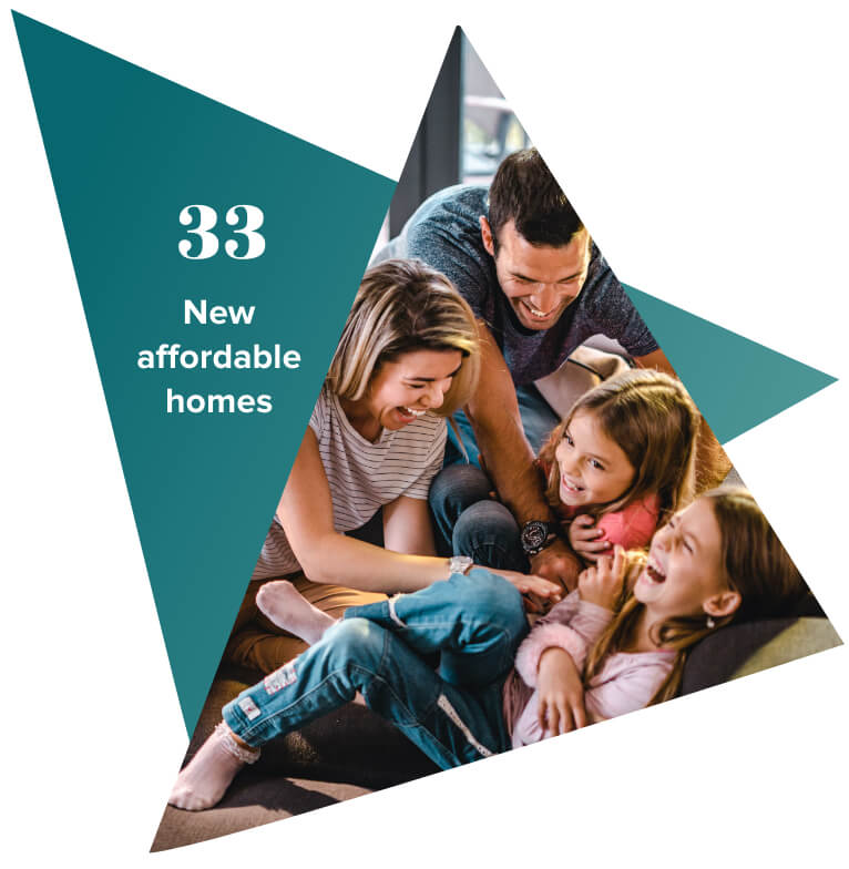 33 new affordable homes